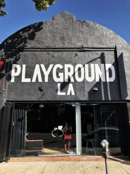 travel tips workout Playground LA with underarmour